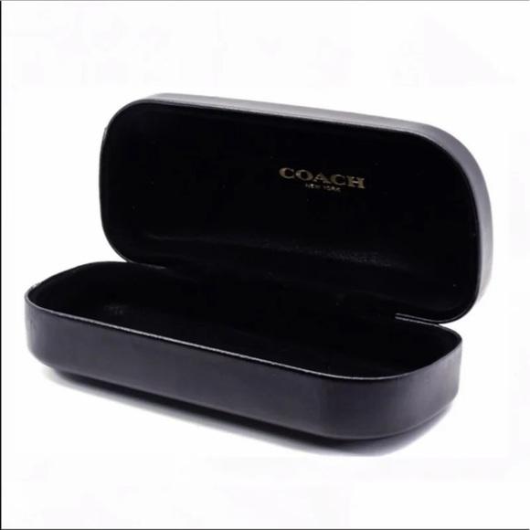 Coach black sunglass case